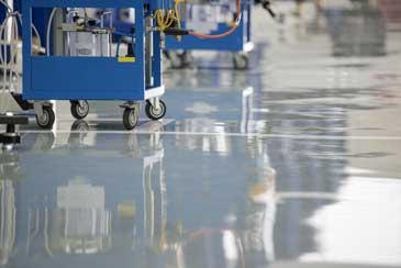 metallic epoxy floor system