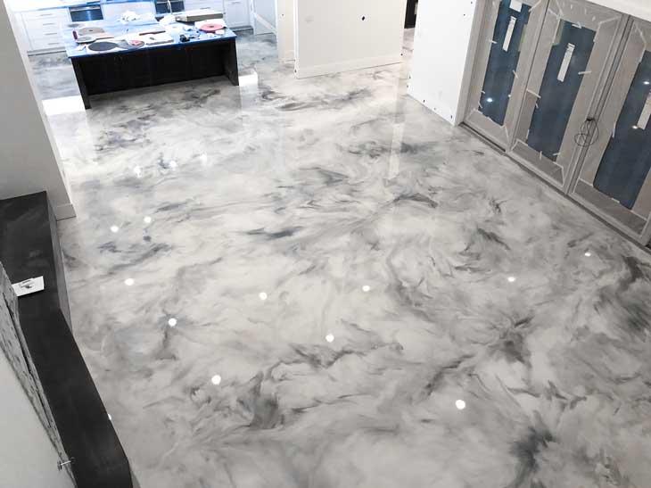 metallic epoxy floor Florida
